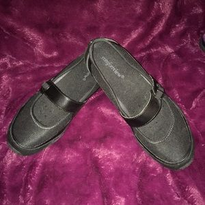 NWOT Comfort View Black Mary Janes Size 10.5WW